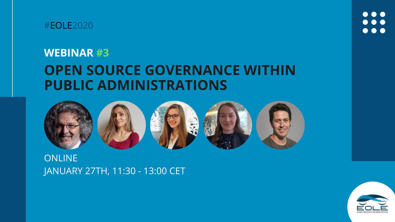 EOLE third webinar on open source governance within public administrations