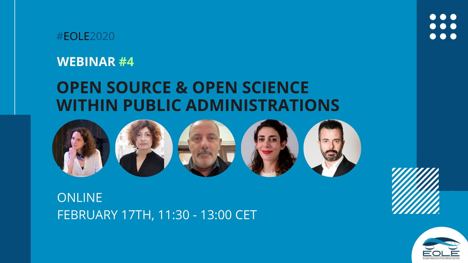 EOLE fourth webinar on open source and open science within public administrations