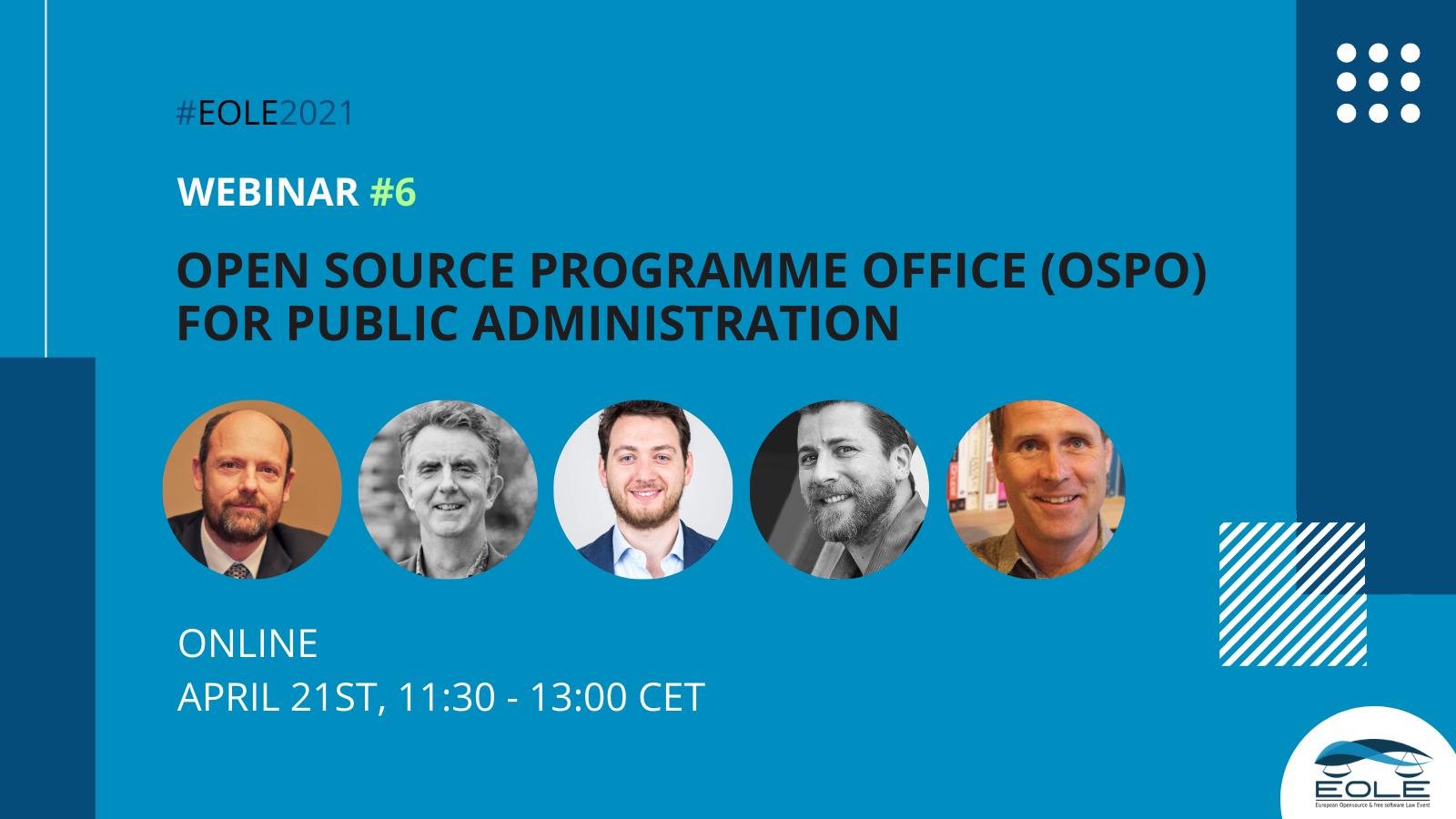 EOLE sixth webinar on Open Source Programme Office (OSPO)